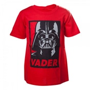 Star Wars Kids Unisex Darth Vader Framed Closeup 122/128 Red T-Shirt