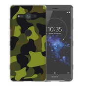 Sony Xperia XZ2 Compact Green Camouflage TPU Gel Case