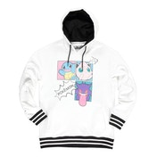 Pokemon - Characters Group PopArt Female Large Hoodie - White/Black