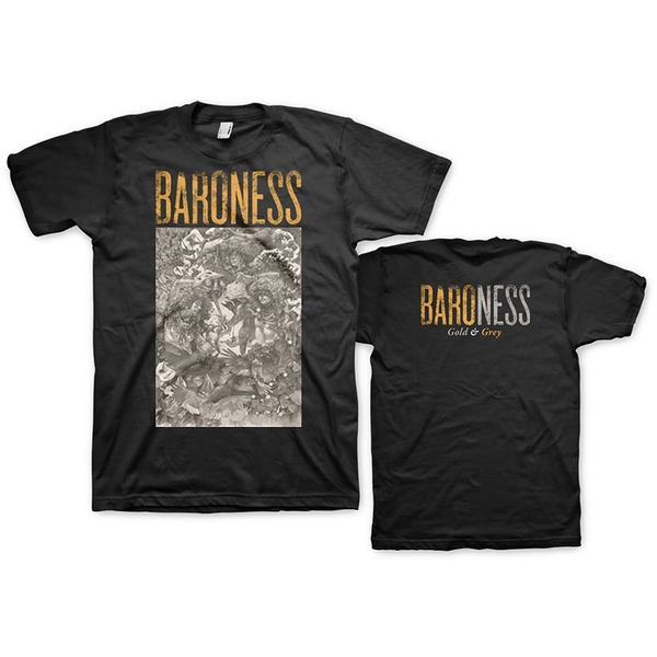 Baroness - Gold & Grey Unisex Small T-Shirt - Black
