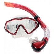 Divetech PRO Cayman Silicone Mask & Snorkel Met Red / Black