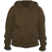Metall Streetwear Full Zip Women's Large Hoodie - Brown - Image 2