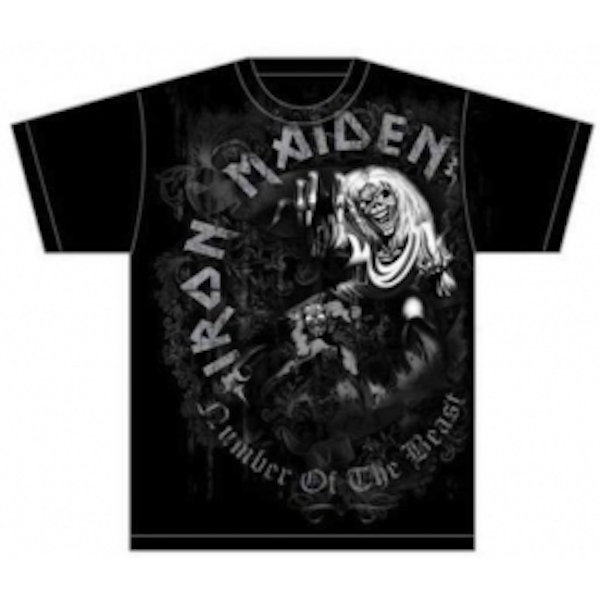 Iron Maiden NOTB Grey Tone Mens T Shirt: Small