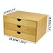 Bamboo Desktop 3 Drawer | M&W Wide Opening - Image 4