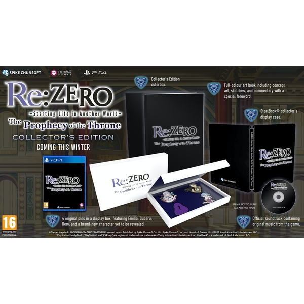 Re:ZERO Starting Life in Another World The Prophecy of the Throne Limited Edition PS4 Game