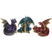 Fierce Friends (Pack Of 3) Dragon Figures