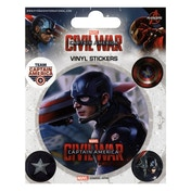 Captain America Civil War Vinyl Sticker Pack - Captain America