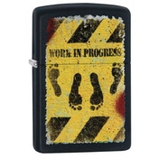 Zippo Feet Hazard Black Matte Finish Windproof Lighter