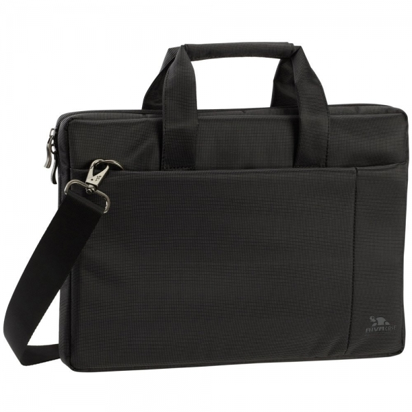 Rivacase 8221 Polyester Black Padded Laptop Bag For 13.3 Inch Netbook