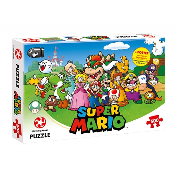 Nintendo Super Mario + Friends 500 Piece Jigsaw Puzzle - Image 1