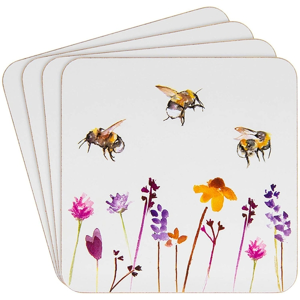 Busy Bees Design Set Of 4 Coasters By Lesser & Pavey