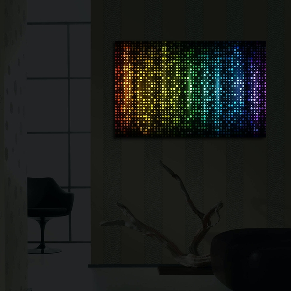 4570?ACT-37 Multicolor Decorative Led Lighted Canvas Painting