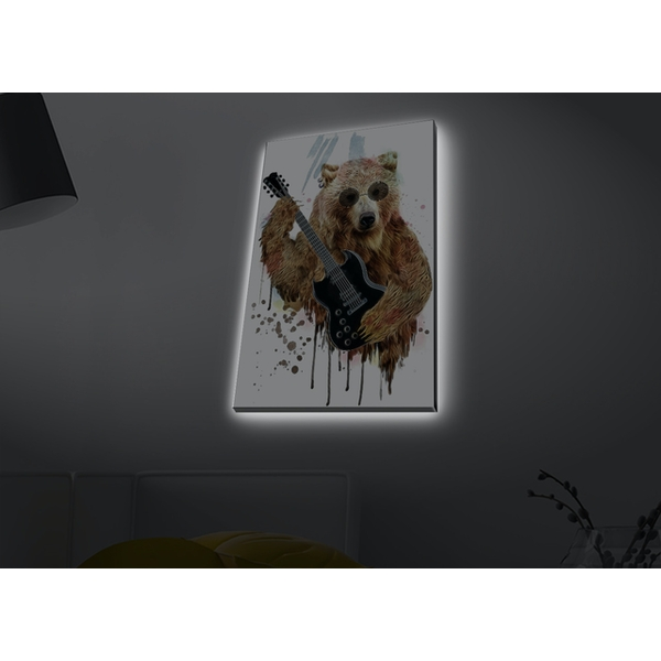 4570MDACT-062 Multicolor Decorative Led Lighted Canvas Painting