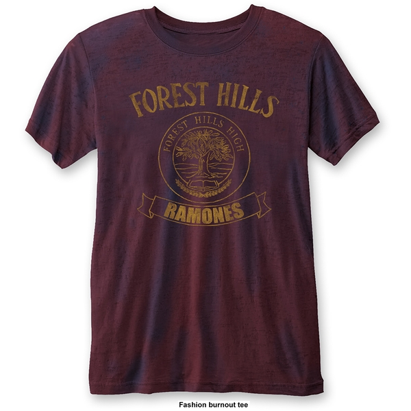 Ramones - Forest Hills Unisex Small T-Shirt - Blue,Red