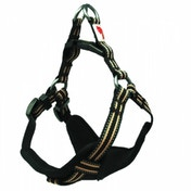 Long Paws Black Comfort Collection Padded Harness S