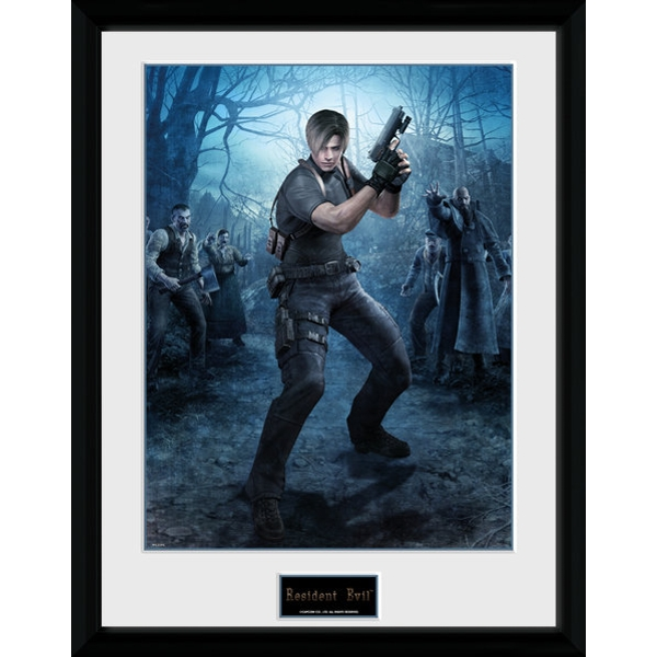 Resident Evil Leon Gun Collector Print - Image 1