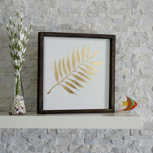 KZM209 Brown White Yellow Decorative Wooden Wall Accessory