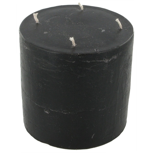 Cylinder Bleeding Red Wax Four Wick Candle