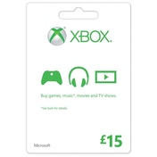 Microsoft Money (Gift Card) Fifteen 15 Pounds Xbox 360 & Xbox One Digital Download
