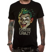 Batman 1966 - Choose Crazy Men's Medium T-Shirt - Black
