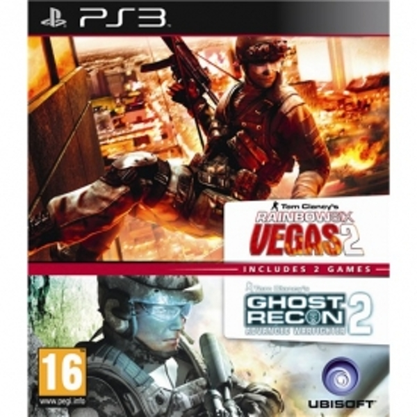 Ubisoft Double Pack Ghost Recon Advanced Warfighter 2 & Tom Clancys Rainbow Six Vegas 2 Game PS3