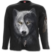 Wolf Chi Men's X-Large Long Sleeve T-Shirt - Black