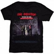 One Direction San Siro Movie Ladies Black T Shirt: Medium