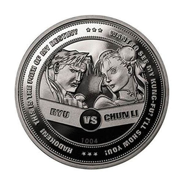 Street Figther Coin Chun Li vs Ryu Limited Edition Collectors Coin (Silver)