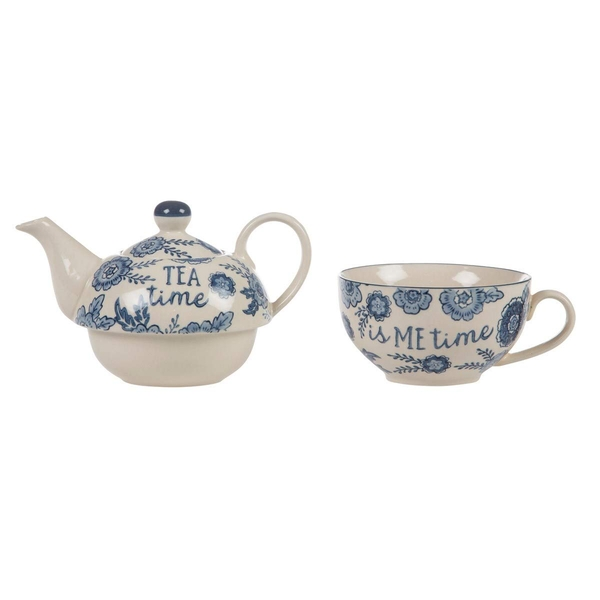 Sass & Belle's Blue Willow Floral Tea For One