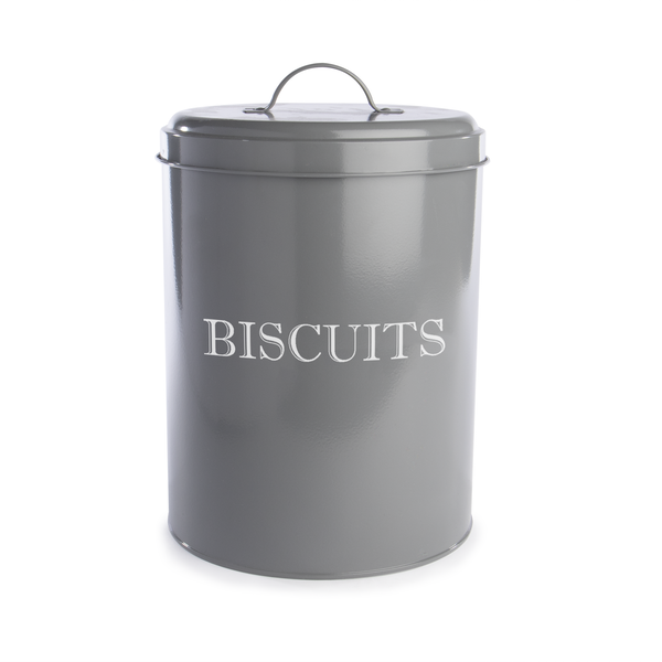 Vintage Biscuit Tin | M&W Grey