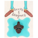 Beers & Brogues Bottle Opener Plaque Pack Of 6