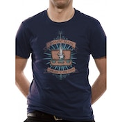 Fantastic Beasts - Magic Wand Men's Medium T-Shirt - Blue