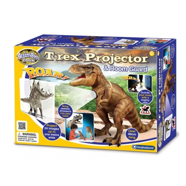 Brainstorm Toys T-Rex Projector and Room Guard - Image 1
