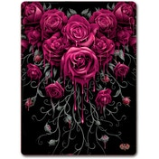 Blood Rose Fleece Blanket With Double Sided Print