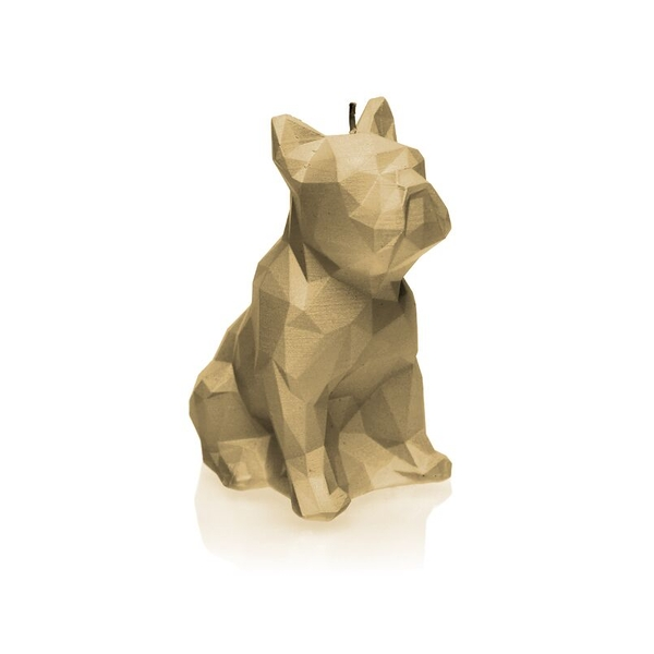 Latte Low Poly Bulldog Candle