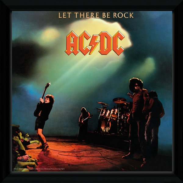 "AC/DC Let There Be Rock 12"" x 12"" Framed Album Cover"