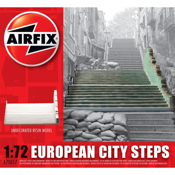 European City Steps Resin Ruined Buildings Air Fix Model Kit