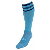 PT 3 Stripe Pro Football Socks Boys Sky/Navy