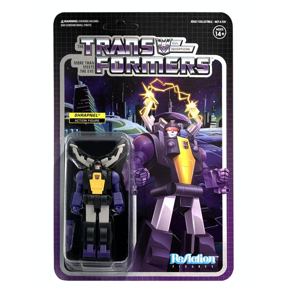 Shrapnel (Transformers) Super 7 ReAction Figure