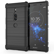 Sony Xperia XZ2 Premium Carbon Anti Fall TPU Case - Black