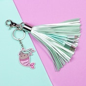 Thumbs Up Pusheen Tassel Charger