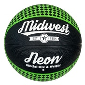 Midwest Neon Basketball Black/Green - Size 3