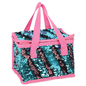 Blue and Pink Reversible Sequin Cooler Bag