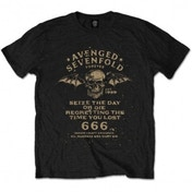 Avenged Sevenfold Seize The Day Mens Black T-Shirt X-Large