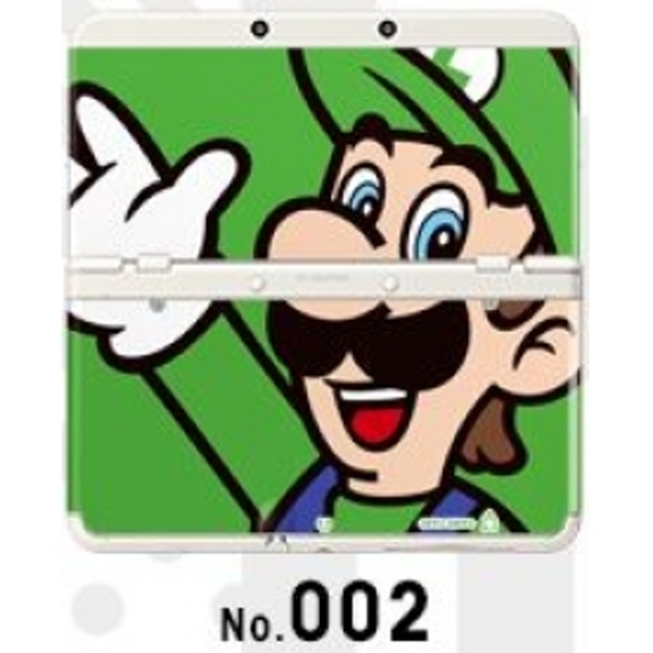 New Nintendo 3DS Cover Plates No 002 Luigi Faceplate