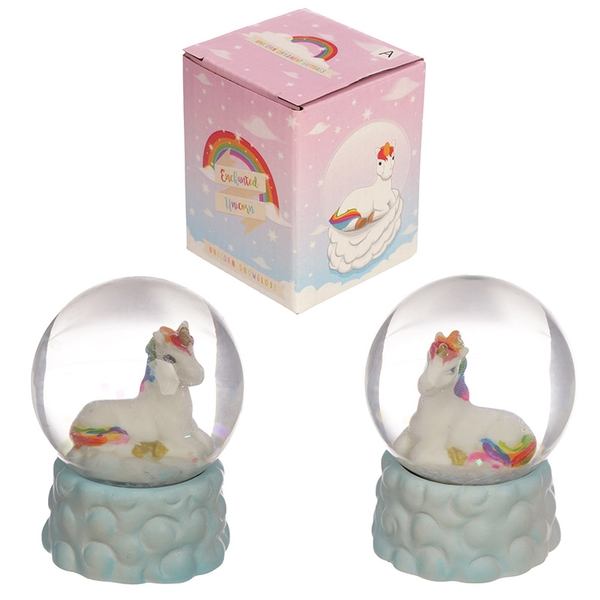 Rainbow Unicorn Snow Globe Ornament