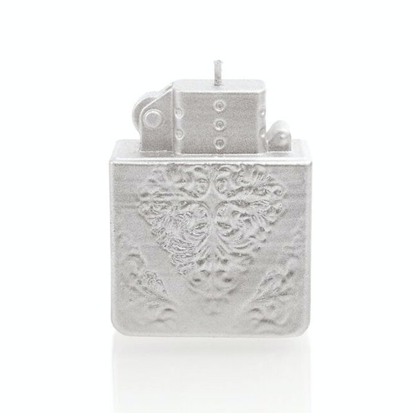 Silver Lighter Candle - Image 1