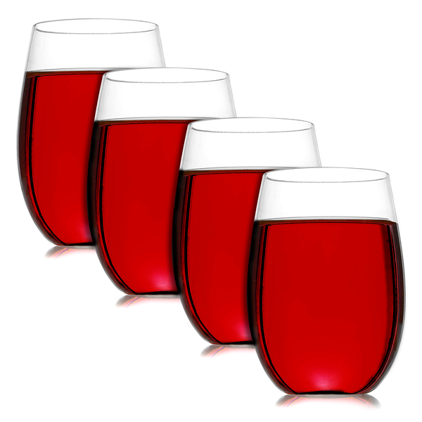 Pack of 4 Unbreakable Wine Glasses | Pukkr - Image 1
