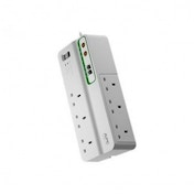 APC 230 V UK 6 Outlet Home/Office SurgeArrest with Phone and Coax Protection UK Plug