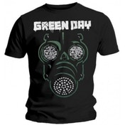 Green Day Green Mask Mens Black T Shirt: Medium